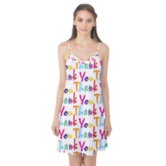 Wallpaper With The Words Thank You In Colorful Letters Camis Nightgown by Simbadda