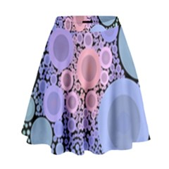 An Abstract Background Consisting Of Pastel Colored Circle High Waist Skirt by Simbadda