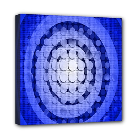Abstract Background Blue Created With Layers Mini Canvas 8  X 8  by Simbadda