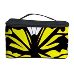 Yellow A Colorful Butterfly Image Cosmetic Storage Case by Simbadda