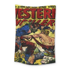 Western Thrillers Small Tapestry by Valentinaart