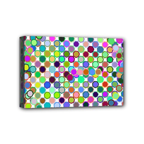 Colorful Dots Balls On White Background Mini Canvas 6  X 4  by Simbadda