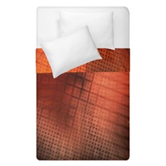 Background Technical Design With Orange Colors And Details Duvet Cover Double Side (Single Size) by Simbadda