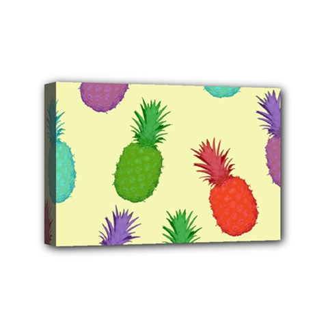 Colorful Pineapples Wallpaper Background Mini Canvas 6  X 4  by Simbadda