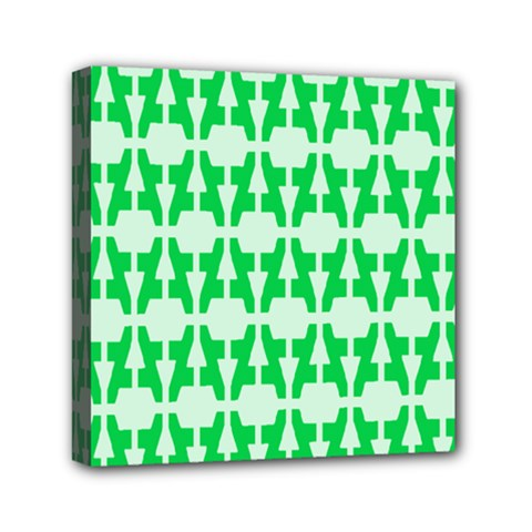 Sign Green A Mini Canvas 6  X 6  by Mariart