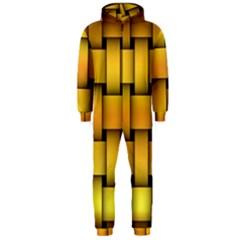 Rough Gold Weaving Pattern Hooded Jumpsuit (Men)