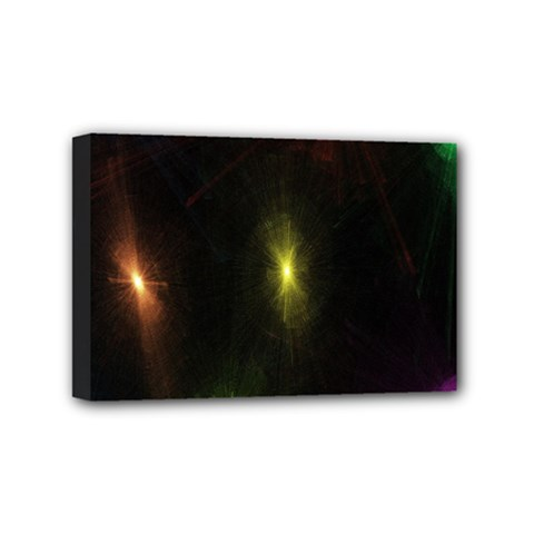 Star Lights Abstract Colourful Star Light Background Mini Canvas 6  X 4  by Simbadda