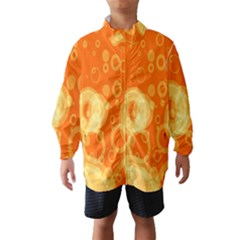 Retro Orange Circle Background Abstract Wind Breaker (kids) by Nexatart