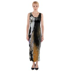 Abstract Graffiti Background Fitted Maxi Dress