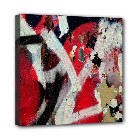 Abstract Graffiti Background Wallpaper Of Close Up Of Peeling Mini Canvas 8  x 8  by Nexatart
