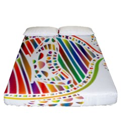 Colorful Fish Animals Rainbow Fitted Sheet (queen Size) by Mariart