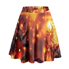 Summer Evening High Waist Skirt by Nexatart