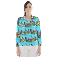 Colourful Street A Completely Seamless Tile Able Design Wind Breaker (women) by Nexatart