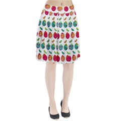 Watercolor Floral Roses Pattern Pleated Skirt