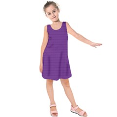 Pattern Violet Purple Background Kids  Sleeveless Dress by Nexatart
