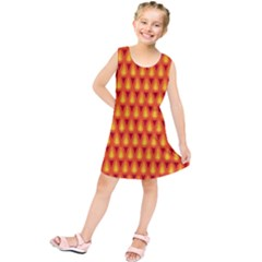 Simple Minimal Flame Background Kids  Tunic Dress by Nexatart