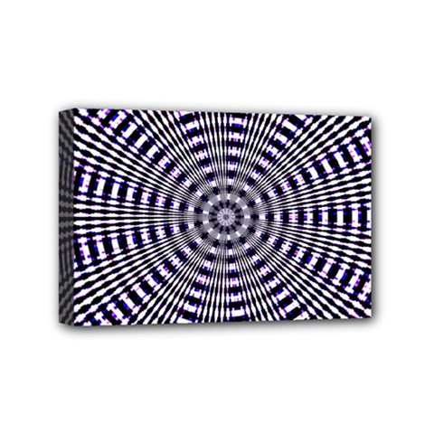 Pattern Stripes Background Mini Canvas 6  X 4  by Nexatart