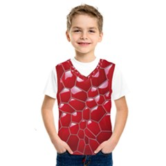 Plaid Iron Red Line Light Kids  Sportswear by Mariart