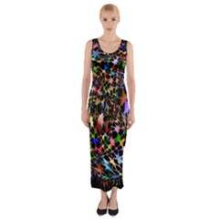 Network Integration Intertwined Fitted Maxi Dress