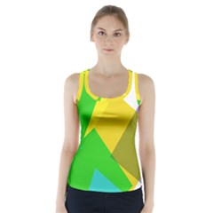 Green Yellow Shapes         Racer Back Sports Top