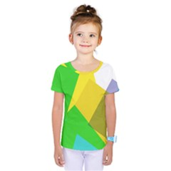 Green Yellow Shapes           Kids  One Piece Tee