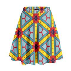 Stars Pattern          High Waist Skirt