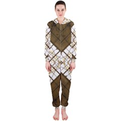 Steel Glass Roof Architecture Hooded Jumpsuit (ladies)
