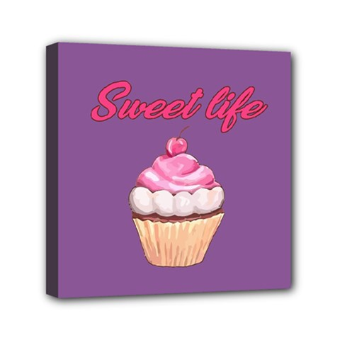 Sweet Life Mini Canvas 6  X 6  by Valentinaart