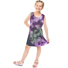 Purple Green Paint Texture         Kid s Tunic Dress
