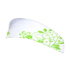 Butterfly Green Flower Floral Leaf Animals Stretchable Headband by Mariart