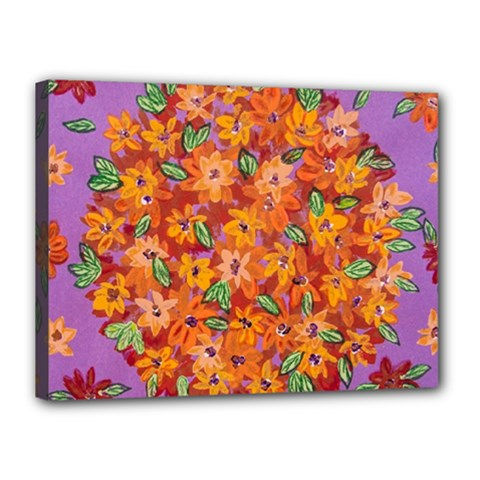 Floral Sphere Canvas 16  X 12  by dawnsiegler