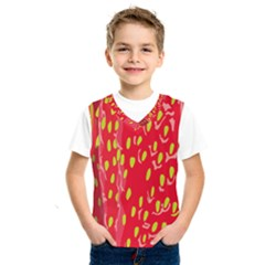 Fruit Seed Strawberries Red Yellow Frees Kids  Sportswear by Mariart