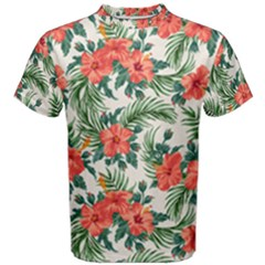 Palm Tropical Flower Men s Cotton Tee by pushu