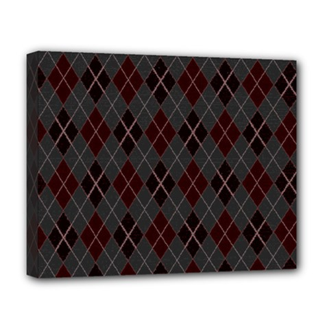Plaid pattern Deluxe Canvas 20  x 16   by Valentinaart