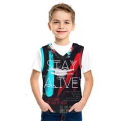 Twenty One Pilots Stay Alive Song Lyrics Quotes Kids  Sportswear by Onesevenart