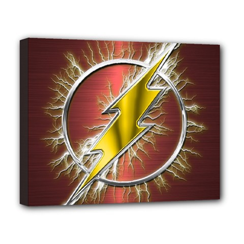 Flash Flashy Logo Deluxe Canvas 20  x 16   by Onesevenart