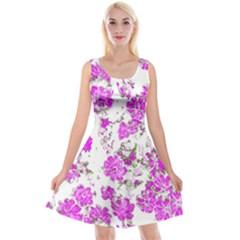 Floral Dreams 12 F Reversible Velvet Sleeveless Dress