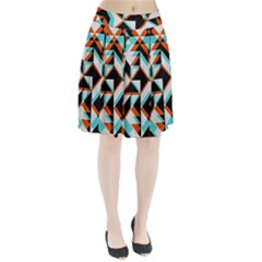 4 Colors Shapes      Pleated Skirt