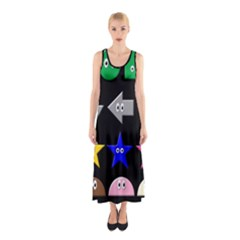 Cute Symbol Sleeveless Maxi Dress