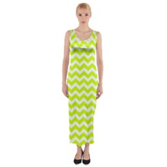 Chevron Background Patterns Fitted Maxi Dress