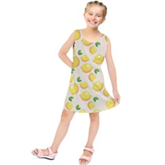 Lemons Pattern Kids  Tunic Dress by Nexatart