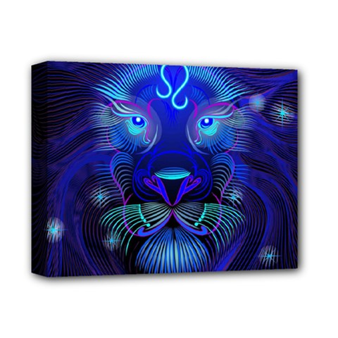 Sign Leo Zodiac Deluxe Canvas 14  x 11  by Mariart