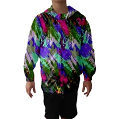 Tropical Jungle Print And Color Trends Hooded Wind Breaker (kids) by Nexatart