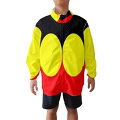 Flag Of Australian Aborigines Wind Breaker (kids) by Nexatart