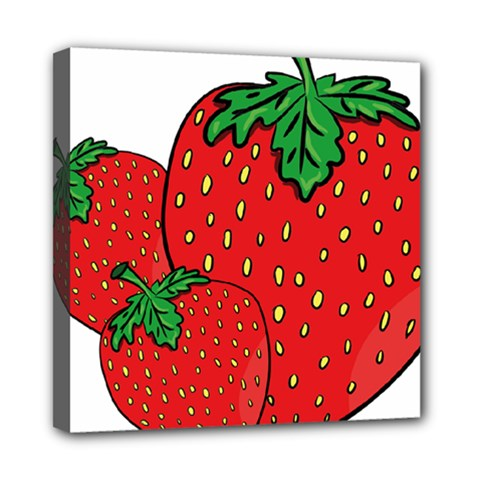 Strawberry Holidays Fragaria Vesca Mini Canvas 8  x 8  by Nexatart