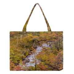 Colored Forest Landscape Scene, Patagonia   Argentina Medium Tote Bag by dflcprints