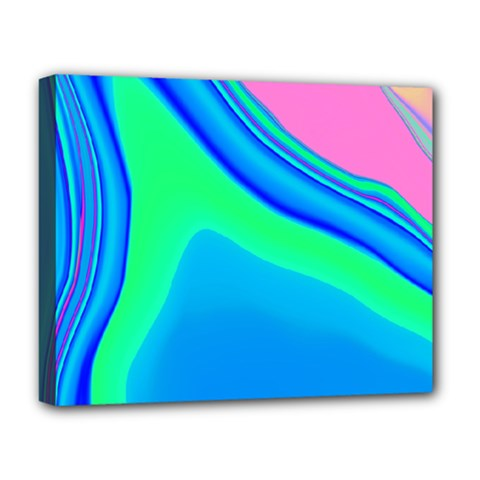 Aurora Color Rainbow Space Blue Sky Deluxe Canvas 20  x 16   by Mariart
