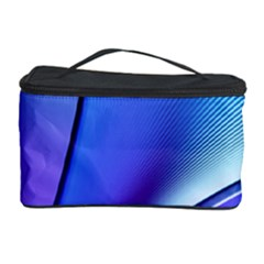 Line Blue Light Space Purple Cosmetic Storage Case by Mariart