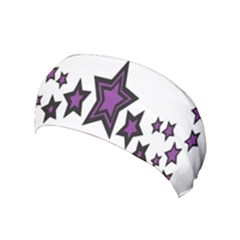 Star Purple Space Yoga Headband by Mariart