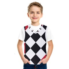 Survace Floor Plaid Bleck Red White Kids  Sportswear by Mariart